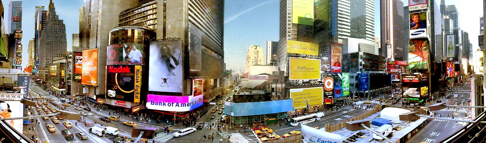 Coronavirus hits new york hard as times square looks like a disaster image